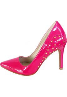 Scarpin Blume Tachas Pink