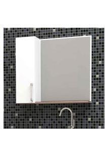 Espelheira De Sobrepor Maua 60X52,7Cm Branca Com Tamarindo Cozimax