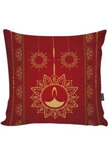 Capa Para Almofada Indian- Vermelha & Amarelo Claro-Stm Home