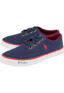 Tênis Polo Hpc Bordado Azul-Marinho