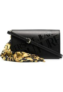 Versace Jeans Couture Alça Para Bolsa Com Logo Gravado - Preto