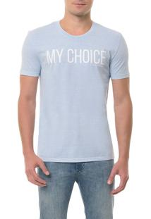 Camiseta Ckj Mc Estampa My Choice Azul Claro Camiseta Ckj Mc Estampa My Choice - Azul Claro - Ggg