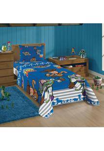 Jogo De Cama Solteiro Infantil Lepper Toy Story 2 Peças Azul