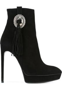 Saint Laurent Ankle Boot Modelo 'Janis' - Preto
