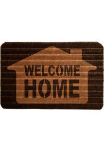 Capacho Carpet Welcome Home Marrom Único Love Decor