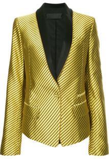 Haider Ackermann Blazer Com Lapelas Contrastantes - Dourado