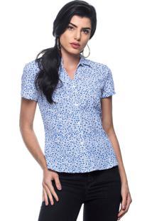 Camisa Intens Manga Curta Algodão Azul