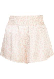 Morgan Lane Short De Pijama Corey Com Estampa De Leopardo - Rosa