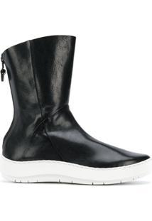 Trippen Ankle Boot Plataforma De Couro - Preto