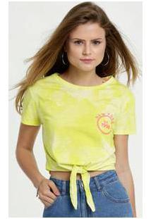 Blusa Feminina Cropped Estampa Tie Dye Amarração Marisa