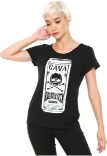 Camiseta Cavalera Poison Preta