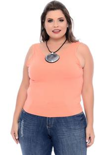 Cropped Coral Plus Size
