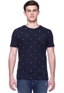 Camiseta Estampada King&Joe Manga Curta Preta