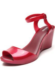 Sandália Melissa Blanca Vermelha