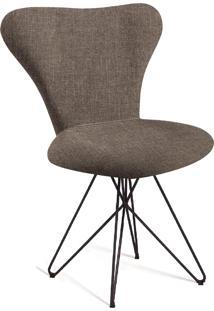 Cadeira Jaçobsen Butterfly Aço T1072 Linho Marron Daf Marron