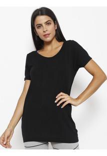 Camiseta Lisa Com Seamless Dry®- Pretalupo