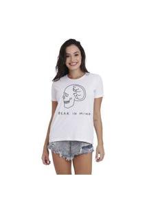 Camiseta Jay Jay Basica Bear In Mind Branca Dtg