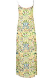 Alice+Olivia Slip Dress Harmony Floral - Amarelo