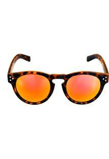 Óculos Solar Titânia Animal Print Fosco Com Lente Espelhada Colors - Kanui