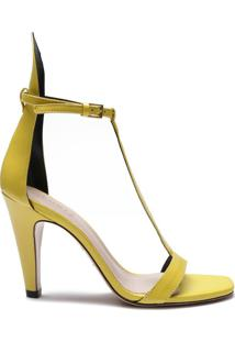 Sandália Special Italian Mid Heel Yellow   Schutz
