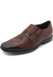 Sapato Social Couro Pegada Detalhe Superior Marrom
