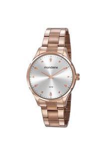 Kit Relógio Feminino Mondaine 32108Lpmvre1K Analógico 5Atm + Pulseira | Mondaine | Prata | U