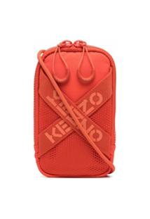 Kenzo Bolsa Mini Com Logo - Laranja