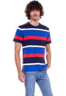 Camiseta Levis Sunset Pocket Multicolor Azul