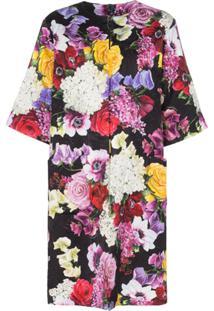 Dolce & Gabbana Sobretudo Oversized Floral - Hnw86 Multicolor