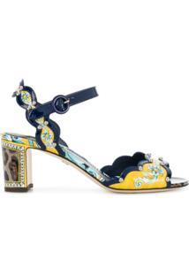 Dolce & Gabbana Sandália 'Keira Majolica' De Couro - Estampado
