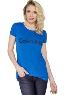 Camiseta Caviar Calvin Klein - Feminino-Azul