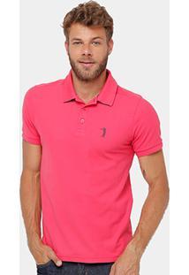 Camisa Polo Aleatory Piquet Lisa Masculina - Masculino-Pink