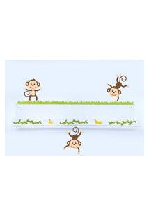 Adesivo De Parede E Livreiro Quartinhos Macacos Amigos Incolor
