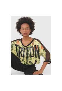 Camiseta Triton Tropical Amarela