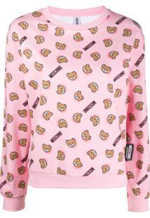 Moschino Blusa De Pijama Com Estampa - Rosa