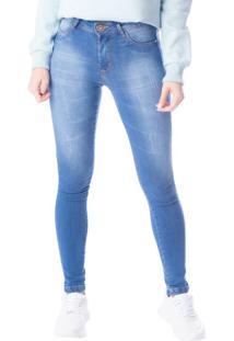 Calça Jeans Feminina Cigarrete Tm Denim Azul - 36