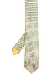 Brioni Gravata Estampada - Amarelo