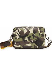Fendi Bolsa Estruturado Com Estampa Bag Bugs Camuflada Média - Verde