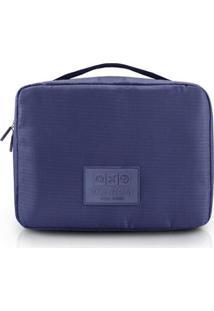 Necessaire De Viagem Jacki Design Quadrada - Unissex-Azul