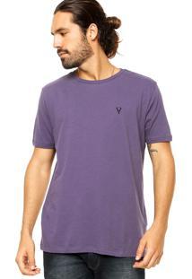 Camiseta Vr Básica Listras Roxo