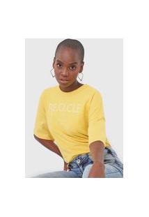 Camiseta Colcci Recicle Amarela
