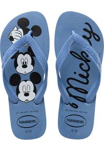 Sandálias Havaianas Top Disney Azul