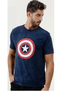 Camiseta Masculina Estampa Capitão America Marvel