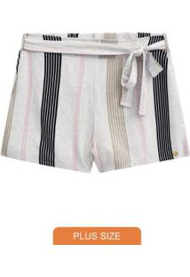 Shorts Tecido Com Amarracao Preto Reativo