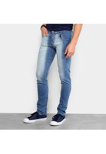 Calça Jeans Slim Zamany Estonada Masculina - Masculino