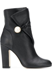 Jimmy Choo Ankle Boot 'Bethanie 100' De Couro - Preto