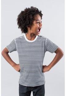Camiseta Infantil Mc Dupla Face Florianopoli Reserva Mini Masculina - Masculino-Branco+Preto