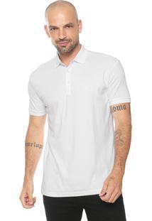 Camisa Polo Dudalina Reta Jersey Branca