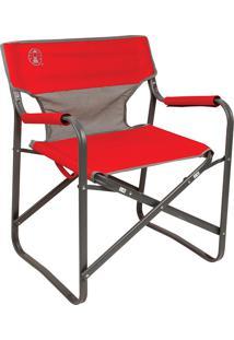 Cadeira Dobrável Steel Deck Vermelha 110120019421 Coleman