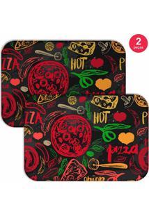 Jogo Americano Love Decor Hot Pizza Colorido - Kanui